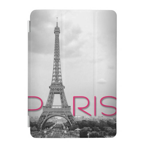 Paris & Eiffel Tower Typography iPad Mini Cover