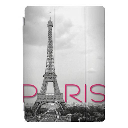 Paris & Eiffel Tower Typography iPad Pro Cover