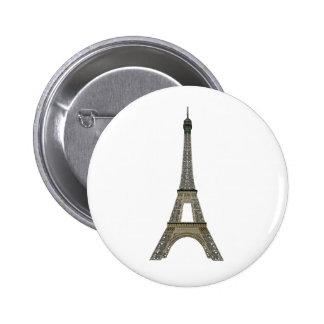 Paris: Eiffel Tower: Vector Drawing: 2 Inch Round Button