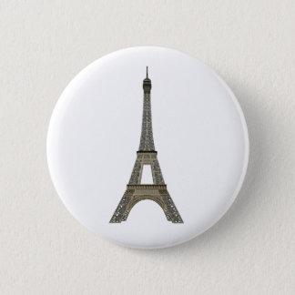 Paris: Eiffel Tower: Vector Drawing: Pinback Button