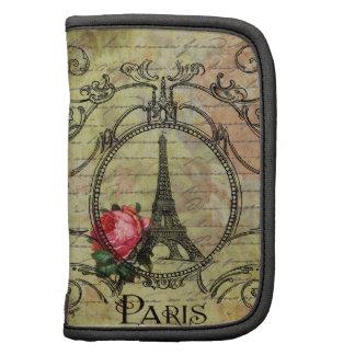 Paris Eiffel Tower Victorian Steampunk & Red Rose Organizers