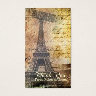 paris eiffel tower vintage bridal shower business card