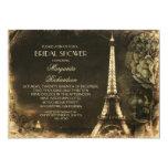 Paris Eiffel tower vintage bridal shower Custom Announcement