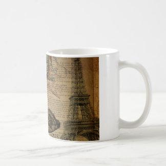 Paris eiffel tower vintage girly shoes coffee mug