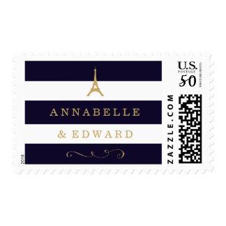 Paris Eiffel Tower Wedding Stamp