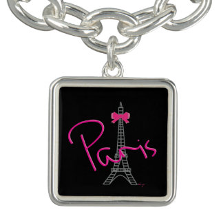 Paris Eiffel Tower with Love Bracelets