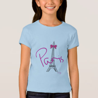 Paris Eiffel Tower with pink bow T-Shirt