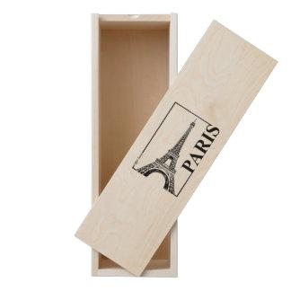 Paris-Eiffel Tower Wooden Keepsake Box