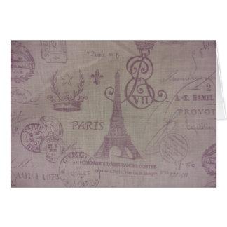 Paris -- Eiffle Tower Greeting Card