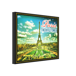Paris Eiffle Tower Watercolor Drawing Canvas Print