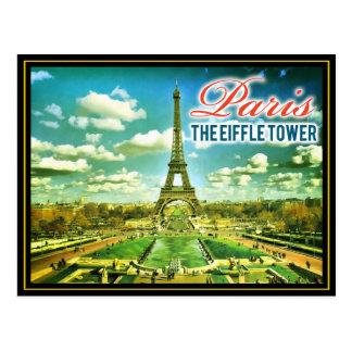 Paris Eiffle Tower Watercolor Drawing Postcard