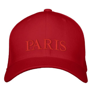 PARIS EMBROIDERED HAT