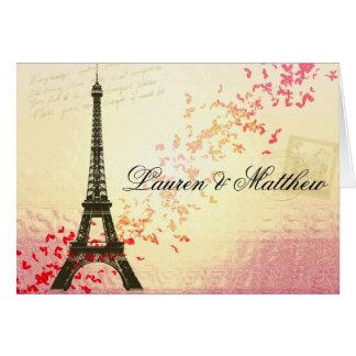 París en amor - torre Eiffel Felicitación