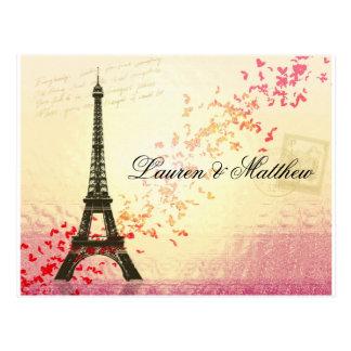 París en amor - torre Eiffel Postales