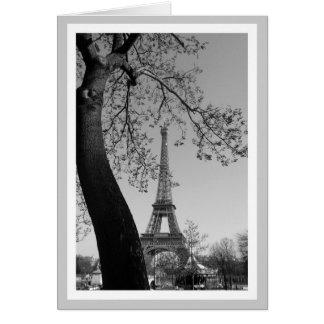 París en b&w tarjeta pequeña