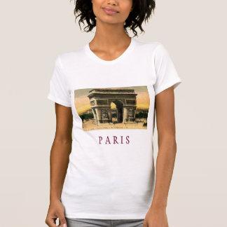 París en colores pastel camisetas