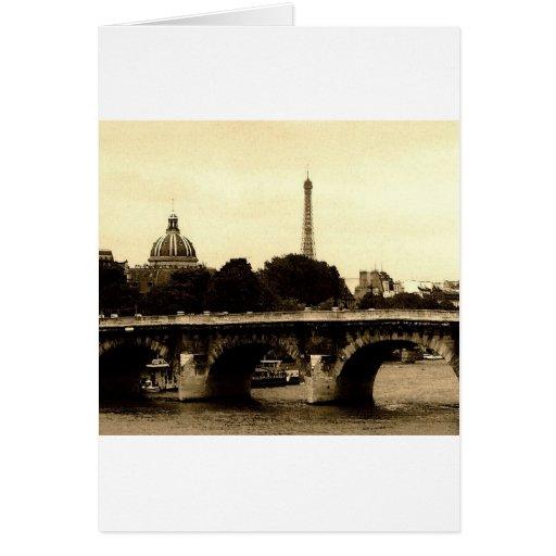 París en el cuadrado tarjeta de felicitación