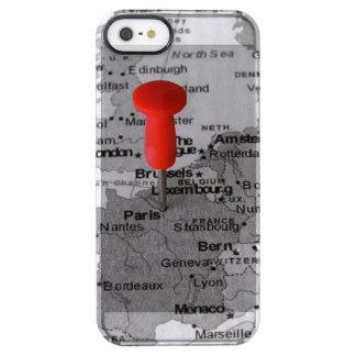 París en el mapa funda clearly™ deflector para iPhone 5 de uncommon