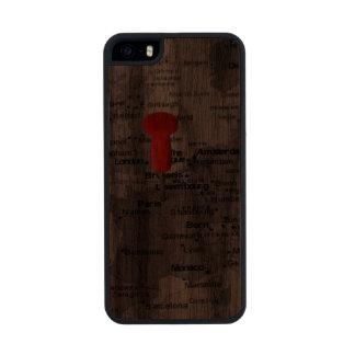 París en el mapa funda de nogal carved® para iPhone 5