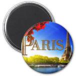 París en el Sena Iman De Frigorífico