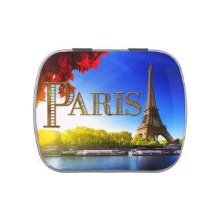 París en el Sena Frascos De Dulces