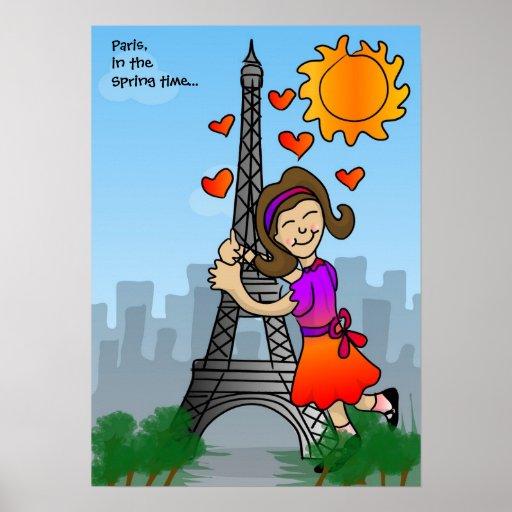 París, en el tiempo de primavera… Poster