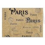 París en la arpillera felicitación