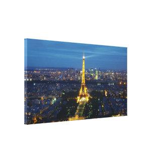 París en la lona aérea de la impresión del panoram lona envuelta para galerias