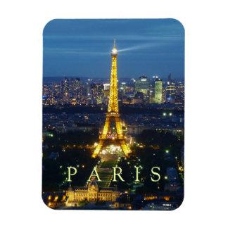 París en la noche - imán de la torre Eiffel