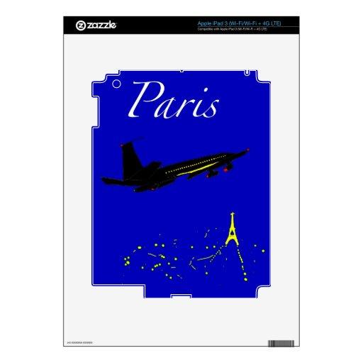 París en la noche iPad 3 skin