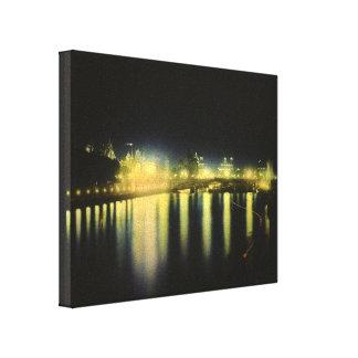 París en la noche impresiones en lienzo estiradas