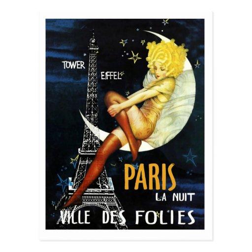 París en la postal de la noche