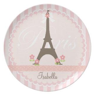París en la primavera femenina plato