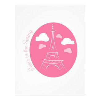 París en primavera membrete personalizado
