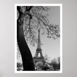 París en primavera póster