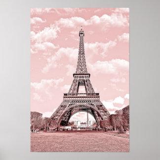París en rosa, Eiffel Towea Póster