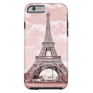 París en torre Eiffel rosada Funda De iPhone 6 Tough