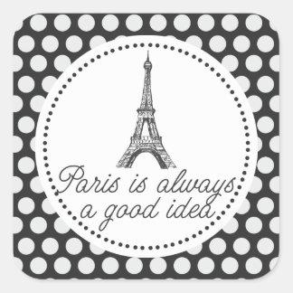 París es siempre una buena idea pegatina cuadrada