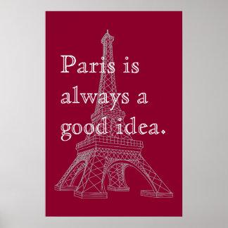 París es siempre una buena idea póster