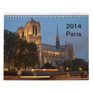 París - escenas de la ciudad calendario