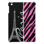 París; Estampado de zebra rosado y negro iPad Mini Cárcasa
