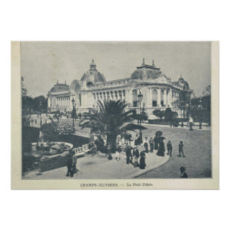 Paris Expo 1900, Champs Elysees et le Grand Palais Poster