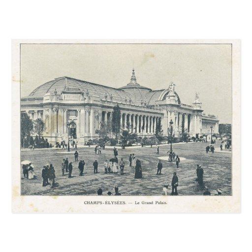 Paris expo 1900 champs elysees grand palais postcard zazzle - Exposition grand palais paris ...