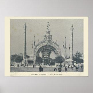 Paris Expo 1900, Champs Elysees Porte Monumentale Poster