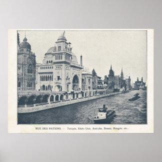 Paris Expo 1900, La Seine et Rue des Nations Poster