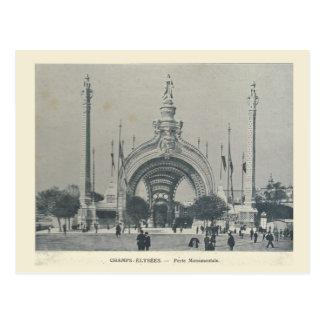 Paris Expo 1900, Les Champs  Elysees , Porte Postcard