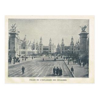 Paris Expo 1900, Palais de l'esplanade des invalid Postcard