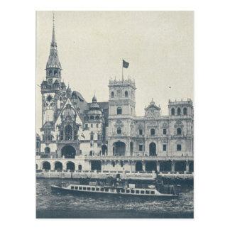 Paris Expo 1900, Rue de Nations Postcard