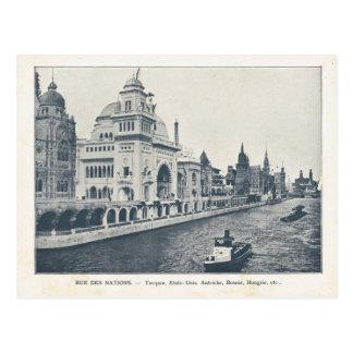 Paris Expo 1900, Rue des nations allemagne et Espa Postcard