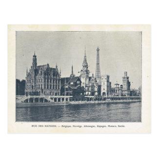 Paris Expo 1900,  Rue des nations, River Seine Postcards
